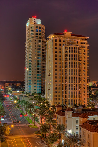 St Pete Condos at Night | by Photomatt28