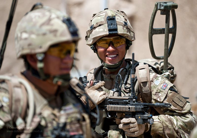 Gurkha Soldier From 2 Royal Rifles On Patrol In Afghanistan