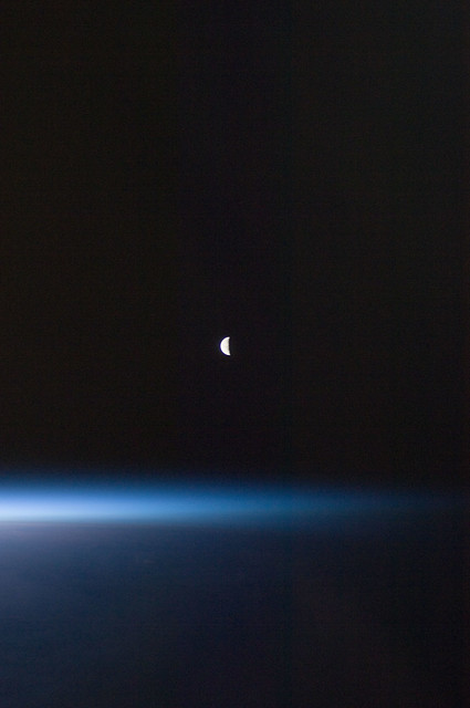 Last Quarter Moon (NASA, International Space Station, 08/2 ...