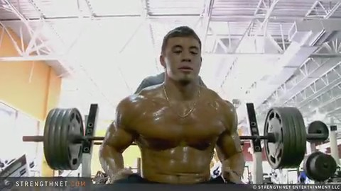Mike Carr Attempts 405lbs on Bench Press at 18 Years Old