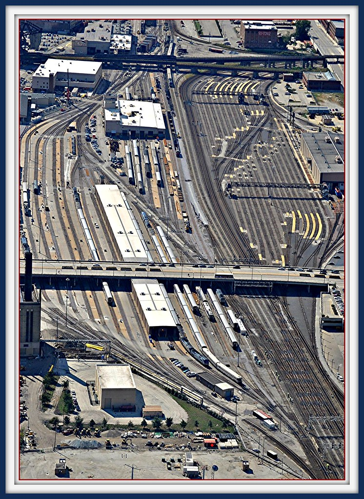 Amtrak 14th Street Coach Yard  U0026 Maintainence Facility View