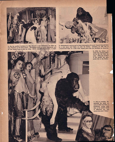 GORILLAS PREFER BLONDES - SPOT magazine April 1941 | by hollywoodgorillamen.com