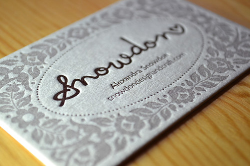 Snowdon Letterpress Business Card | by Alexandra Snowdon