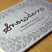 Snowdon Letterpress Business Card