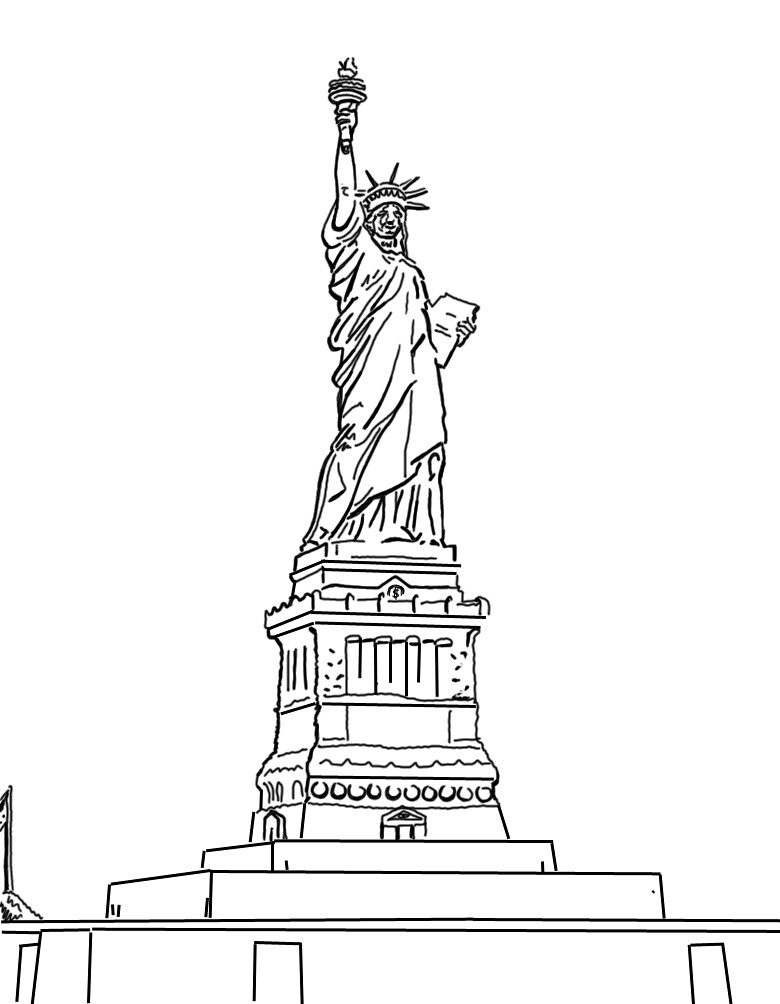 estatua de la libertad. liberty statue | dibujo digital medi… | flickr
