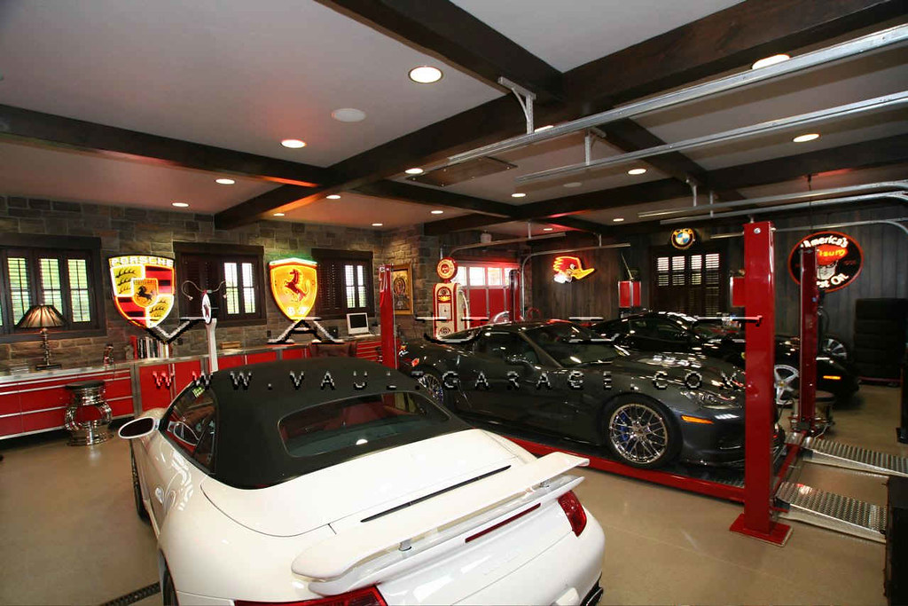 Custom garage design and furnished by vault our passion for Custom garage design