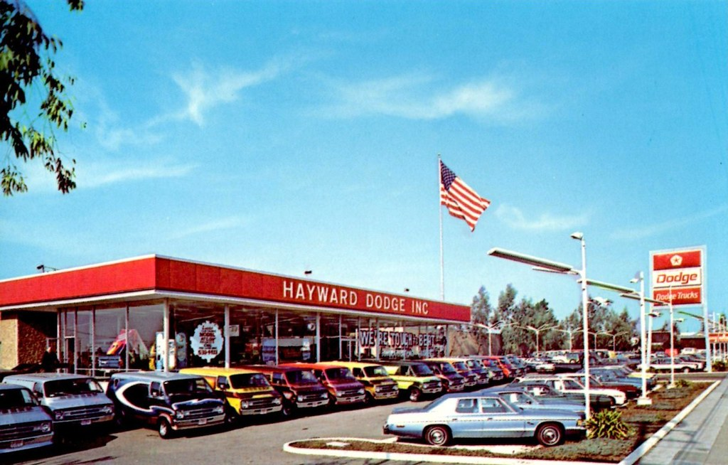 Ford Dealership Las Vegas >> Hayward Dodge, Hayward CA, 1970s | 24773 Mission Blvd. | Alden Jewell | Flickr