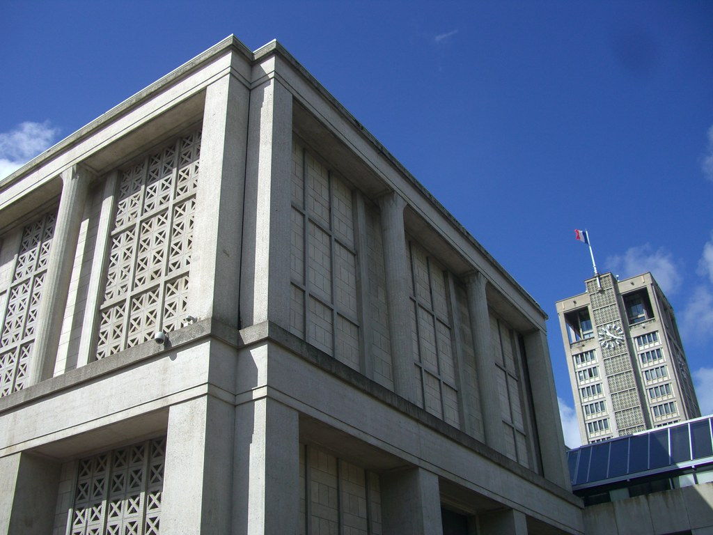 le havre (76), hôtel de ville (1952-1958) | architecte augus… | flickr