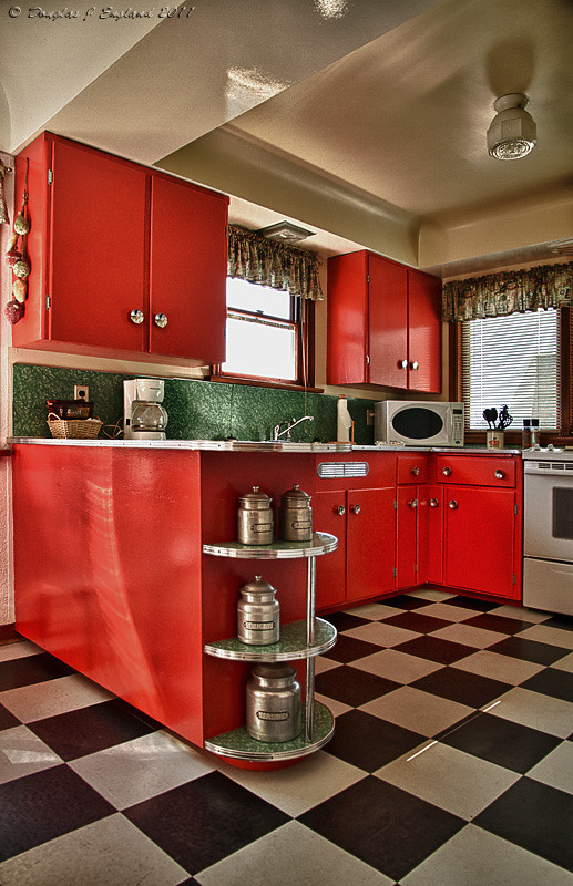 red tiles for kitchen retro kitchen this was the kitchen of the duplex suite 4607