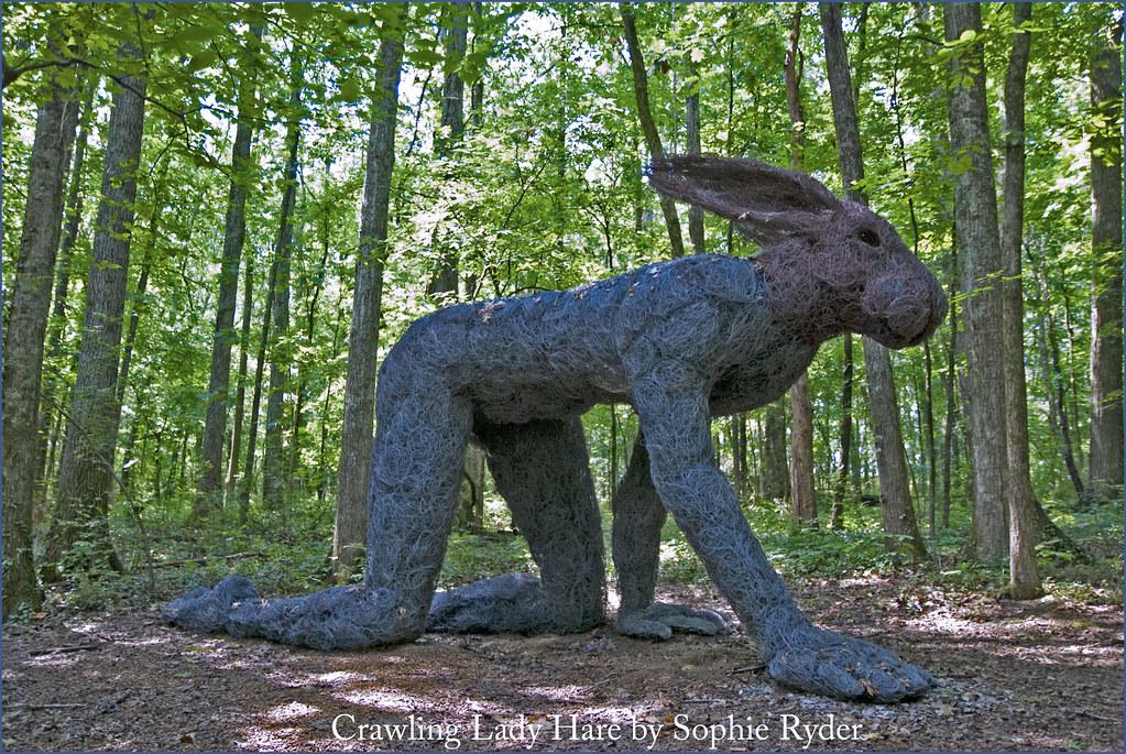 ... Crawling Lady Hare By Sophie Ryder    Cheekwood Botanical Garden  Nashville (TN) July