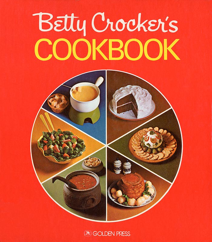 Betty Crocker Cookbook 1972 Holiday edition pie cover