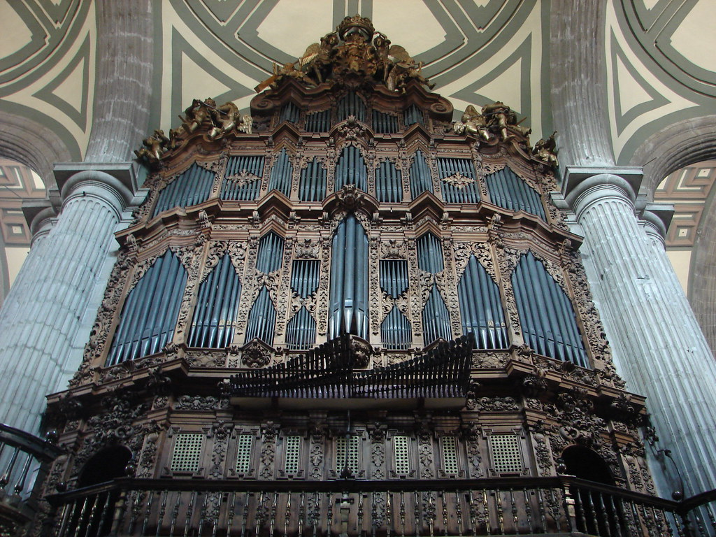 Pipe Organ In Mexico City S Cathedral This Is One Of The