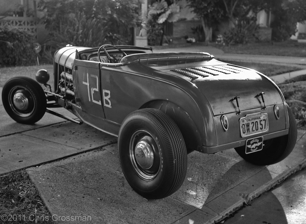Old Ford Hot Rod - GA645zi - TMAX 100 | Old Ford Hot Rod Cul… | Flickr