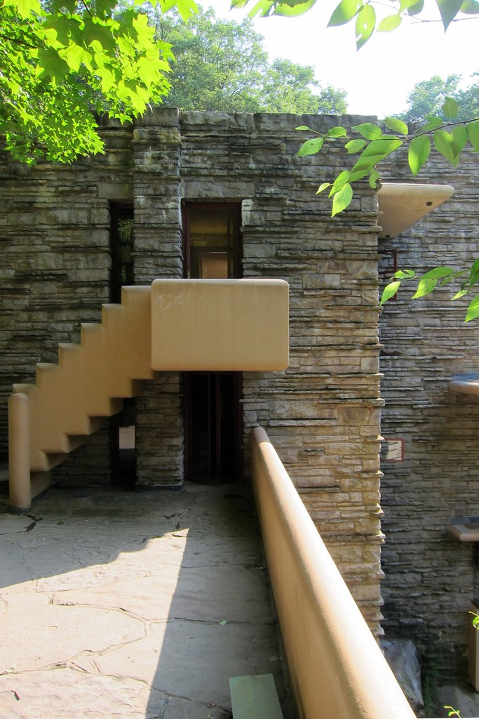 Pa Mill Run Fallingwater Stairs From West Terrace