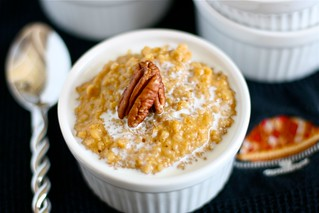 Pumpkin Pie Oatmeal | by Hungry Housewife