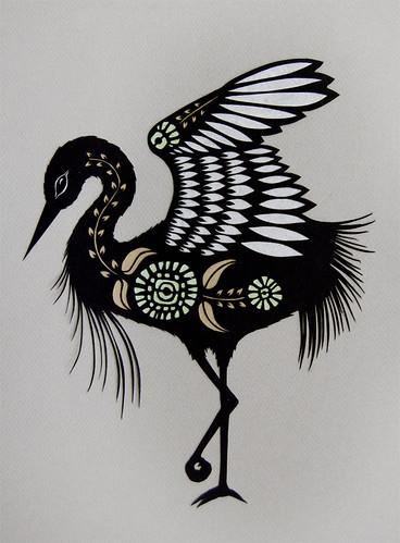 Heron paper term white