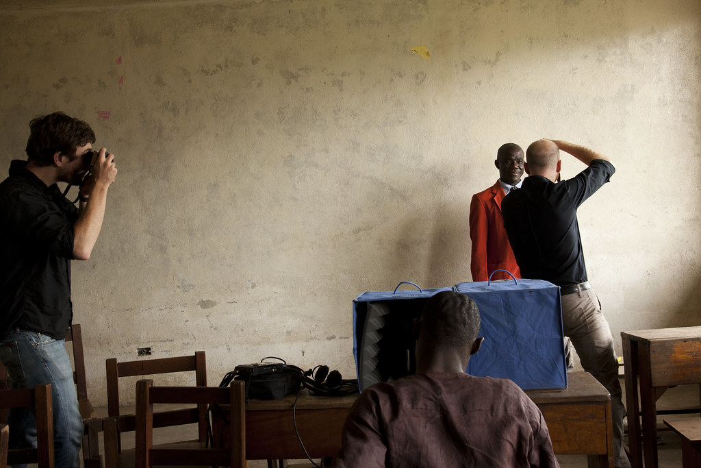 Sound booth together liberia by andrew hida 001 during a s