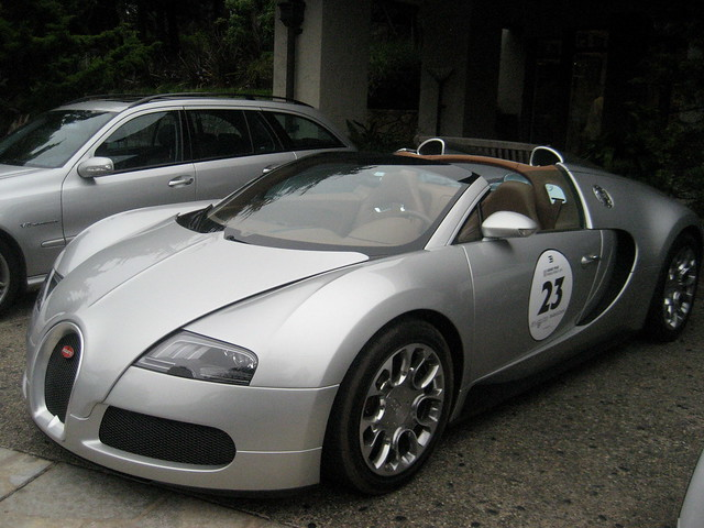 million dollar car bugatti veyron parked at inn at spanish bay flickr photo sharing. Black Bedroom Furniture Sets. Home Design Ideas