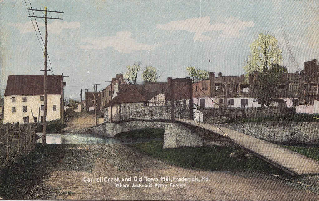 Carrol Creek And Old Town Mill Frederick Maryland Tinte