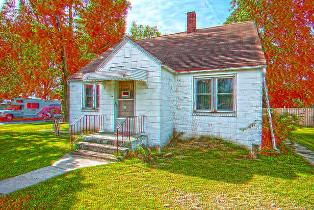 Anaglyph Small Concrete Block House Flickr Photo Sharing