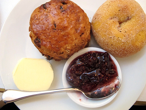 scone and doughnut | by David Lebovitz