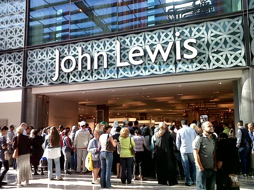 Westfield Stratford City John Lewis Crowds Waiting For