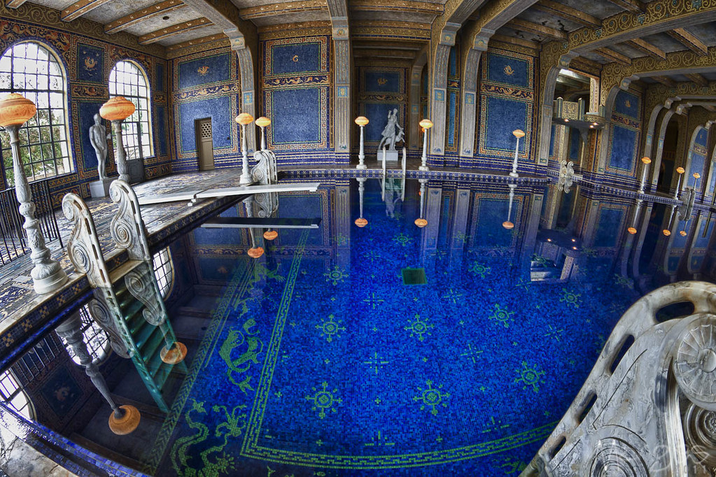 34 52 hearst castle indoor pool fisheye 3 stop hdr of - Indoor swimming pool in los angeles ...