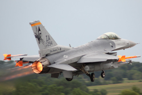 F-16 Departs As Storms Approach | by Kris Klop