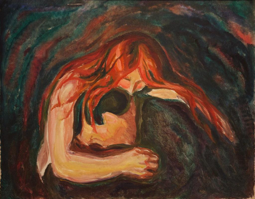 EDVARD MUNCH , Vampire II (W. 41; S. 34)   Christie's   Vampire Edvard Munch