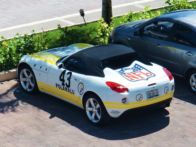 some superfans pittsburgh steelers car at the resort
