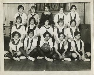 Winners of Interclub Dodge Ball, Young Women's Hebrew Association, Elizabeth, New Jersey, 1927 | by Center for Jewish History, NYC