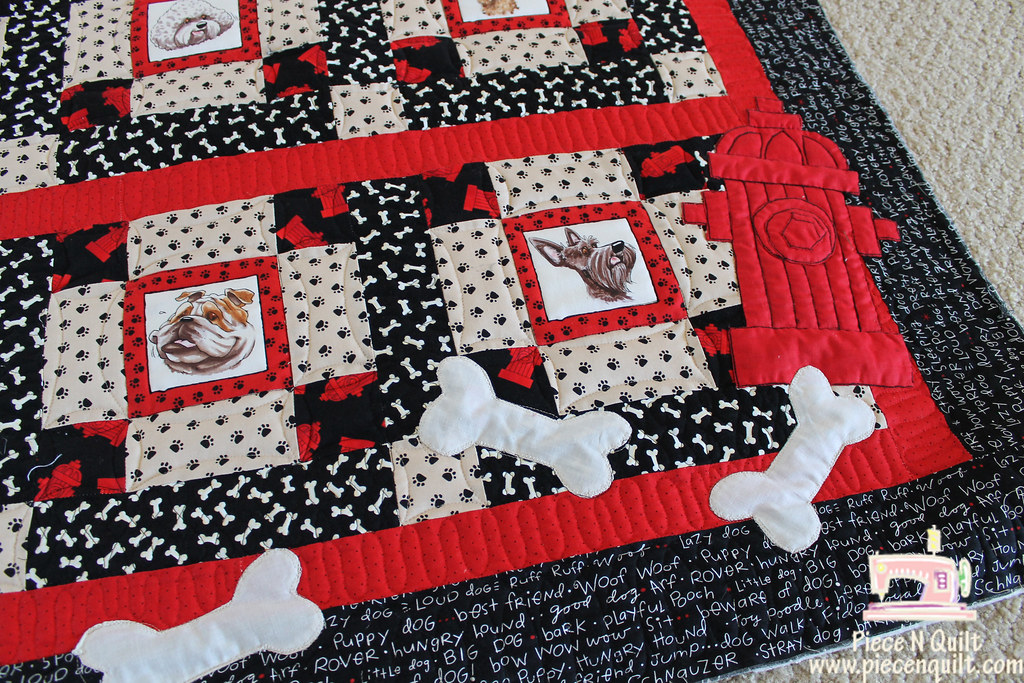 Dog Quilt Blogged Here Piecenquiltspot201108i Flickr