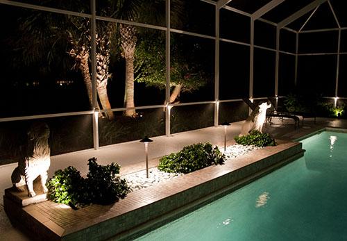 Pool Cage Outdoor Lighting Osprey Florida 2 Www