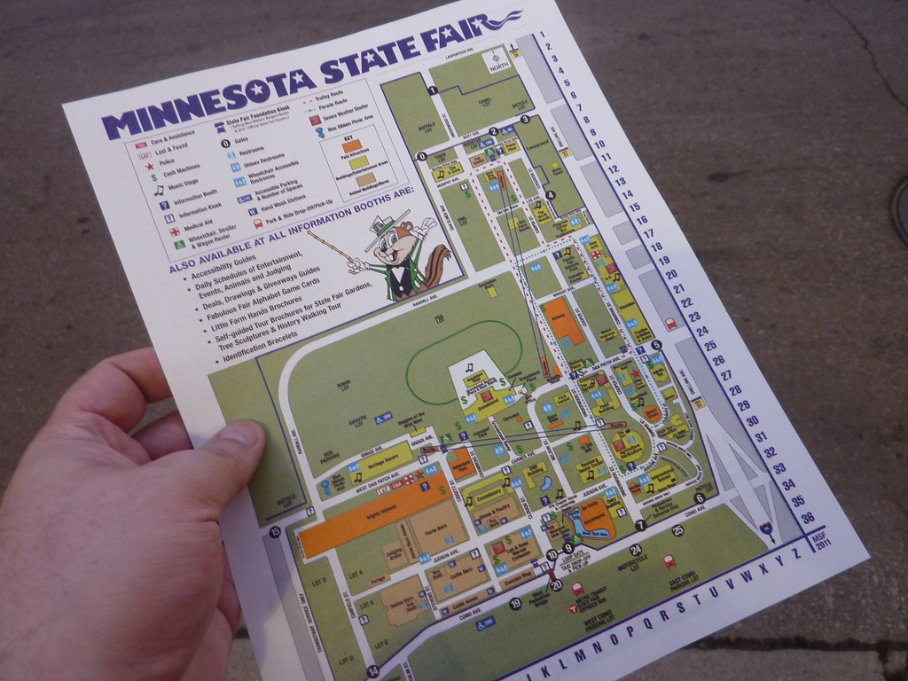 MN State Fair  Map  MN State Fair Map  David Rust  Flickr