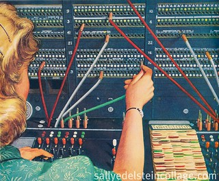 Ad 1949-Telephone operator Western Electric | by Retroarama