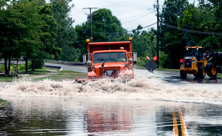 Hurricane Irene Flooding On Queen St., Southington, CT | by WNPR - Connecticut Public Radio