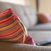 Cushion on a sofa