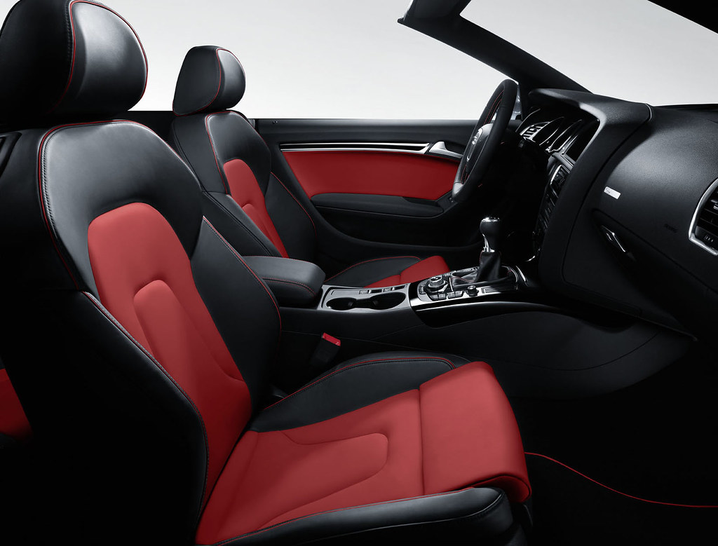 new audi a5 black red interior flickr. Black Bedroom Furniture Sets. Home Design Ideas