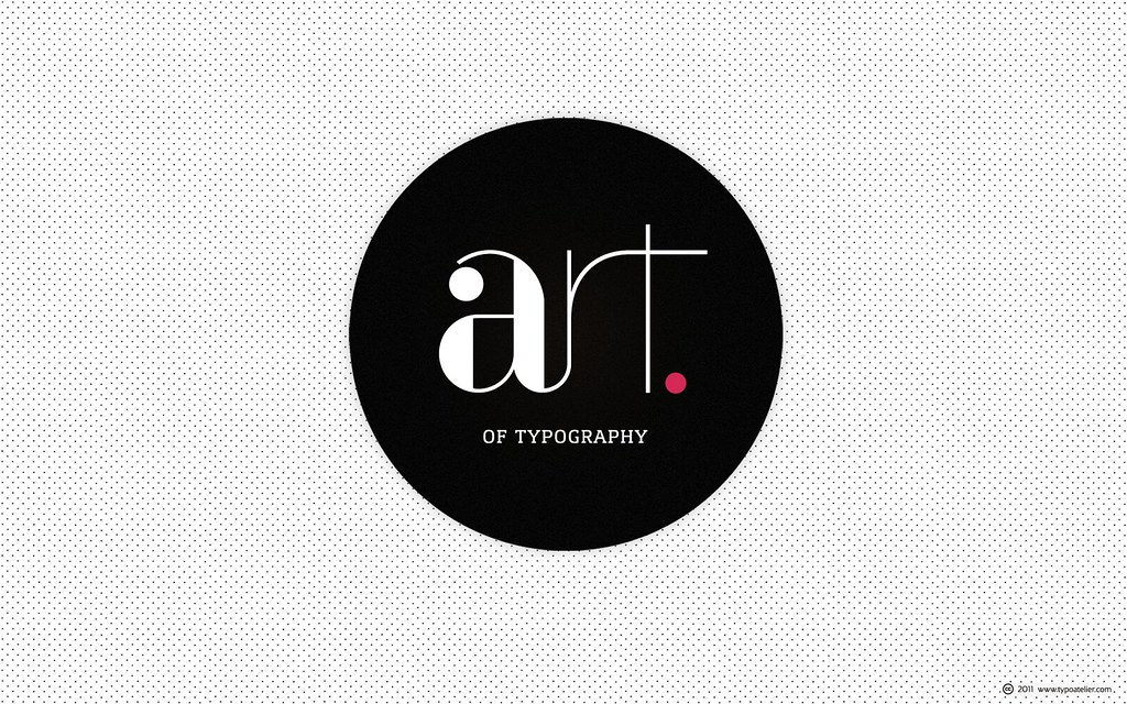 Minimalism »The Art of Typography« (for widescreen displa ...