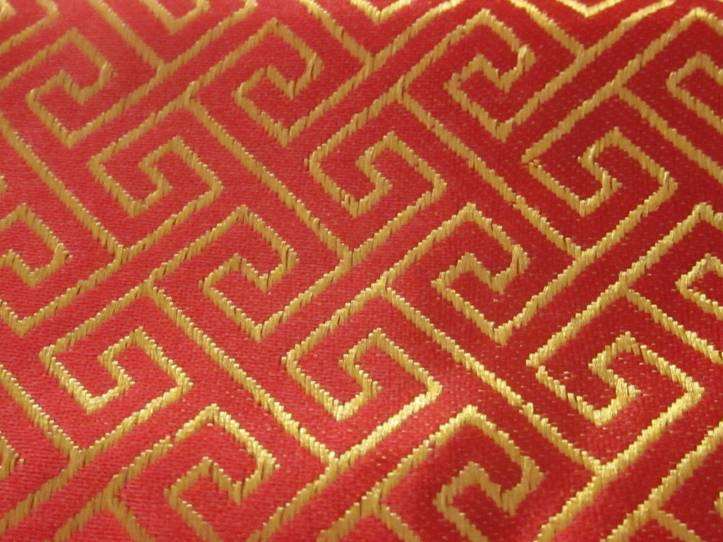 Red and Gold Asian Textile Pattern | By Sherrie Thai of ...