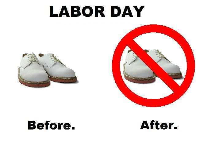 White Shoes After Labor Day