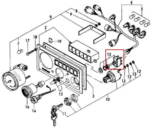 yanmar instrument panel expl 1