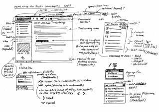 Pear Note: Early UI Concept Sketches | by Mike Rohde