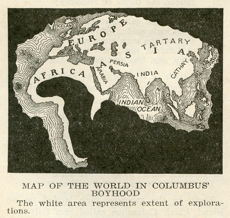 Map Of The World In Columbus39 Boyhood 1920  From