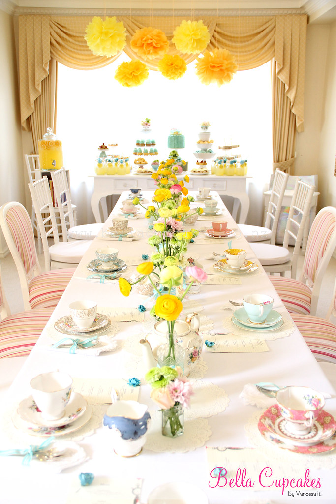 Surprise high tea baby shower i had the honor of for Baby shower decoration set