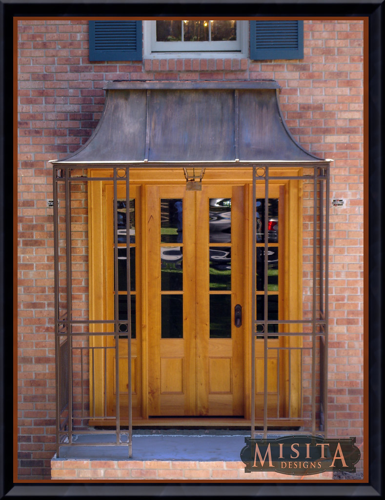 Custom Copper Entry Awning With Custom Mahogany Door Flickr