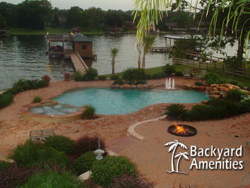 backyard amenities baytown tx freeform pool 5 backyard ame