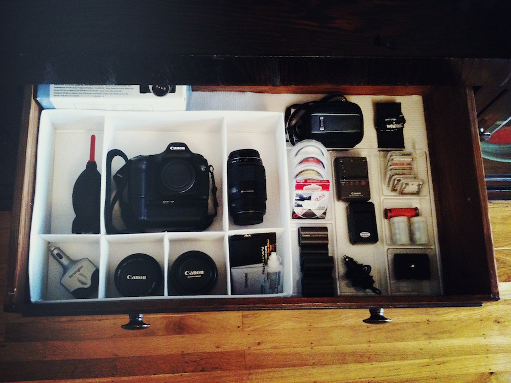 DIY Camera Equipment Storage — How to Make a Photography G ...