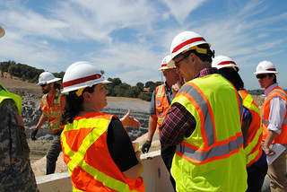 Congressman Dan Lungren gets updates from project manager Beth Salyers | by USACE HQ