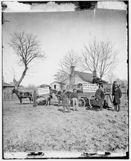 [Unknown location. Wagons and camera of Sam A. Cooley, U.S. photographer, Department of the South] (LOC) | by The Library of Congress